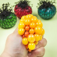 b healthy - 5cm cm Cute Anti Stress Face Reliever Grape Ball Autism Mood Squeeze Relief Healthy Toy Funny Gadget Vent Decompression toys B