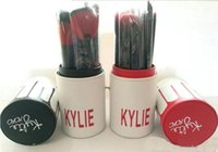 Wholesale Kylie Makeup Brush Cosmetic Foundation BB Cream Powder Blush pieces Makeup Tools Black red gold New