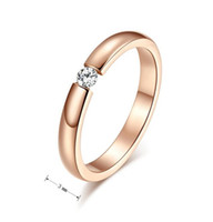 Wholesale Couple Jewelry Direct Selling Trendy Vintage Gold Plated Stainless Steel Ring for Women and Men Zircon Wedding Ring