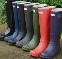 Wholesale Women Rain Boot Wellies Rainboots Ms Glossy Wellington Rain Boots Wellington Knee Boots Fast Delivery DHL