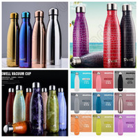 Wholesale Swell Coke Bottle ML Vacuum Cola Shaped Cup Stainless Steel Travel Sport Mug Bowling Cup Vacuum Insulated Tumbler styles OOA919