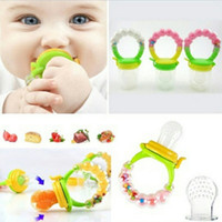 baby fruit holder - Chupeta Silicone Baby Pacifier Teether Nibbler Fruit Baby Feeder Pacifier Clip Chew Soother Holder Nipple Baby Supplies Bite Bag