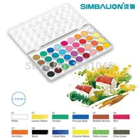 Wholesale LifeMaster Simbalion Solid Watercolor Paint CAKES Portable Perfect Outdoor Painting Pigment Kids Gift Stationery Set