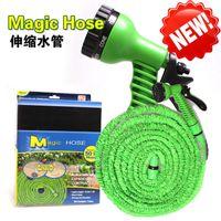 Wholesale 7 in Spray Gun Expandable Garden Hose Latex Tube ft Magic Flexible Hose For Garden Car Plastic Hoses Magic Hose