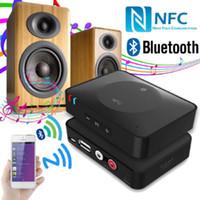 al por mayor receptor bluetooth nfc-IBT-08 NFC 3.5mm USB inalámbrico Bluetooth 3.0 Audio estéreo de música de altavoz receptor adaptador para teléfono móvil MP3 portátil MP4 Tablet PC