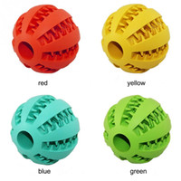 Wholesale 7CM Rubber Watermelon Pattern Ball Funny Natural Non toxic Pet Dog Bite Resistant Teeth Cleaning Chew Toy