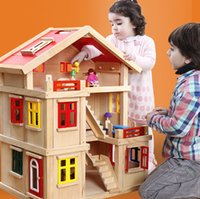 Wholesale Large space Doll house with furniture Handmade wooden house diy birthday gifts D puzzles for adults and lovers dream house children