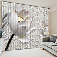 Wholesale Home modern decoration modern curtains for bedroom relief flower d curtain for living room