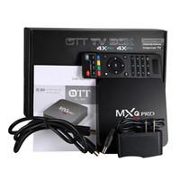achat en gros de media player vente-Factory Sales Android 5.1 OTT MXQ Pro Box TV 4K Kodi 16.1 Rockchip RK3229 Entièrement chargé Quad Core Streaming Media Player WiFi H.265 3D
