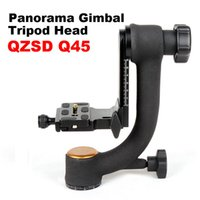 Wholesale QZSD Q45 Professional degree Panorama Gimbal Tripod Head Bird Swing Quick Release Plate For DSLR Video Camera Telephoto Lens