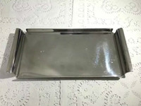 Wholesale Unique polished stainless steel silver gold plated tray for coffee set