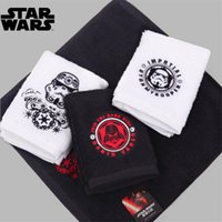 Wholesale New Arrival cm Cartoon Cute Star Wars Darth Vader Cartoon Face Hair Sports Towel Pure cotton towel I027