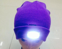 Beanie/Skull Cap Yarn Dyed Casual LED headlamp Glow Knitting fishing hat 5 leds Adult &Kids Winter Snowman Warmer cap Outdoor Skiing Sport Hat new year Gift