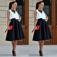 Black Knee Length Skater Skirt Price Comparison | Buy Cheapest ...