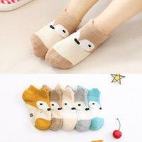 Wholesale slipper baby girl boy socks for kids cartoon animals fox style children sock for summer spring mesh breathable T