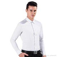 Wholesale 2017 New Long Sleeve Men Shirts Men s Long Sleeve Slim Fit Shirt camisa masculina Casual Mens Dress White Shirt chemise and Retail