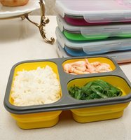 bento lunchboxes - Silicone Collapsible Food Storage Containers s LunchBox Folding Stackable Portable Lunch Box Bowl Bento Boxes Lunchbox KKA1325