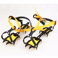 achat en gros de chaussure traction-Crampon Ice Snow Traction Shoe Boot Cleats Non-Slip Gripper Spikes Climbing Equipment Kits de voyage Crampons Ice Shoe Spike