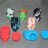 Wholesale silicone dab wax containers OEM available skull shape silicone jar skull silicone jars dab wax container ml
