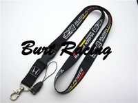 Wholesale JDM Accord MUGEN BLACK Lanyard Neck Cell Phone Key Chain Strap Quick Release