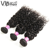 Indian Water Wave Virgin Hair Wefts Mouillée et ondulée 8-28 pouces 3 lots Indian Indian Hair Weave Remy Water Wave Hair Extensions