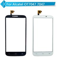 alcatel cables - Black White For Alcatel One Touch Pop C9 OT7047 Touch Screen Capacitive Digitizer Glass with flex cable