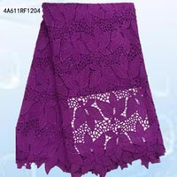 Wholesale High Quality African Guipure Cord lace Fabric Water soluble lace Lace yards dress A611RF12