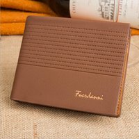 Wholesale Hot New Designer Mens Casual Leather Wallet Card Holder Plaid Purse Wallet For Men Free DHL