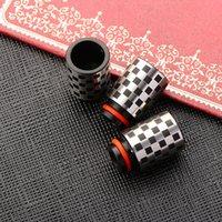 Style chinois style 510 goutte à goutte labyrinthe carré motif en acier inoxydable goutte d'eau pour e cigs en stock DHL livraison gratuite
