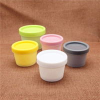 Wholesale 100ml Plastic Facial Mask Container Cosmetic Cream Jar Empty Refillable Makeup Cylinder Bottle