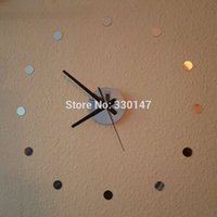 beauty wall lights - DIY Watch Home Decor Small Round Acrylic Mirror Sticker Simple Time Beauty Self adhesion Mute D Wall Clock
