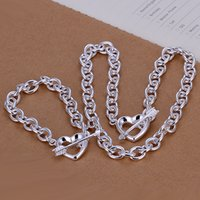 Wholesale new popular hot sale promotion solid sterling silver jewelry necklace and bracelet