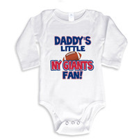 baby clothes ny - Daddy s little NY GIANTS fan baby shower onesie baby white outfit boy girl baby gift clothes newborn