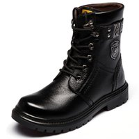 Wholesale Martin winter boots male leather high help add flocking boots