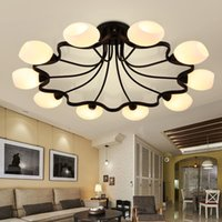 Wholesale 30sq m LED Pendant Lamps E27 US Country Style AC V LED Pendant Lights with Metal Glass for Living Room