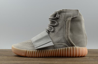 Cheap With Box 2017 Adidas Originals Yeezy Boost 750 Discount Running Shoes Men Women Kanye West BB1840 Boots Cheap Casual Shoes Size 5-11.5