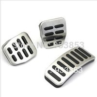 Wholesale Stainless Car Transmission MTpedal Cover for VW Polo Bora Lavida Fabia Clutch Accelerator Brake Gas pedal