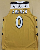 Wholesale Majestic GILBERT ARENAS Basketball Jersey Mens XS XL Golden Throwback Basketball Jerseys Cheap