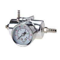 Wholesale EDFY Universal Car Adjustable Fuel Pressure Regulator with Gauge Silver