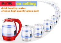 Wholesale Factory selling directly L V W glass electric water kettle Insulation LED blue light electric kettle safety auto off function