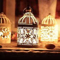 Wholesale New arrival Decorative Moroccan Lantern Votive Candle Holder Hanging Lantern Vintage Candlesticks Home Decoration P17