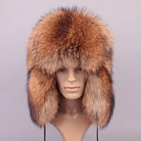 Wholesale Men Winter Hats Winter For Men New Fashion Brand Warm Female Russian Natural Color Russian Fur Unisex Men s Real Fur Bombers