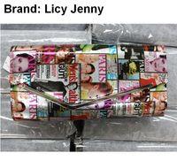 beauty fashion magazine - Licy Jenny Women girl lady wallet clutch purse burse notecase PU leather Magazine beauty cover girl european station fashion