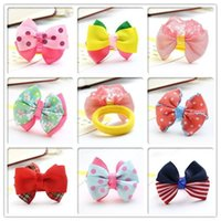 asian towels - The little girl child hair bow towel ring ring girls hair rope headdress baby hair elastic rope factory