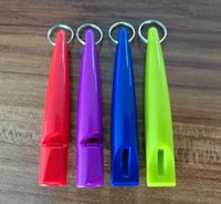 Wholesale pet horse training Whistle plastic for horse training mixed colors