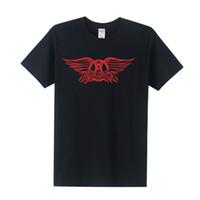aerosmith shirt - 2016 New Summer Aerosmith Shirt Band T shirts Men Short Sleeve Cotton Rock Roll T shirts OT