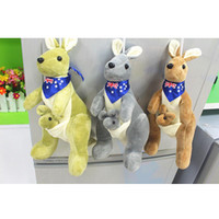 baby gifts australia - New Australia Mother and child cm PP Cotton Kawaii Kangaroo Animal Plush Cute Doll Toys Car Pillow Cushion Kid Babies Gift