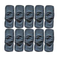 20pcs Naturally Soft 5 couches de bambou Charcoal Inserts pour bébé couches de tissu Reutilisables Inserts lavables Liners Pocket Tissu Nappy