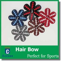 Wholesale 2017 Softball Flower Accessory and hair clip softball hair bows softball hairbow baseball hairbow