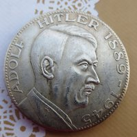 Wholesale German Reichsmark Hitler Silver plated Copy Coins High quality
